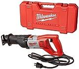 Milwaukee 6519-31 12 Amp Corded 3000 Strokes Per Minute Reciprocating Sawzall w/...
