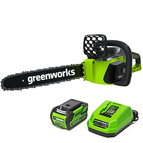 Greenworks 40V 16' Brushless Cordless Chainsaw,...