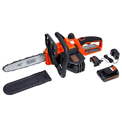 BLACK+DECKER Model LCS1020 20V Max Lithium-Ion Chainsaw, 10-Inch