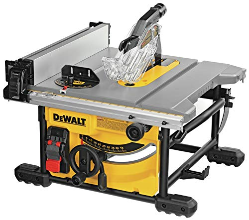 DEWALT Table Saw for Jobsite, Compact, 8-1/4-Inch...